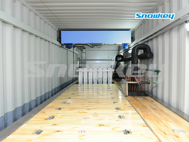 Containerized Brine Tank Type Block Ice Machine B50AF (5Tons/Day)