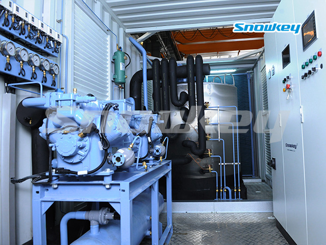 Containerized Flake Ice Machine Unit FIP15 (15 Tons/Day)