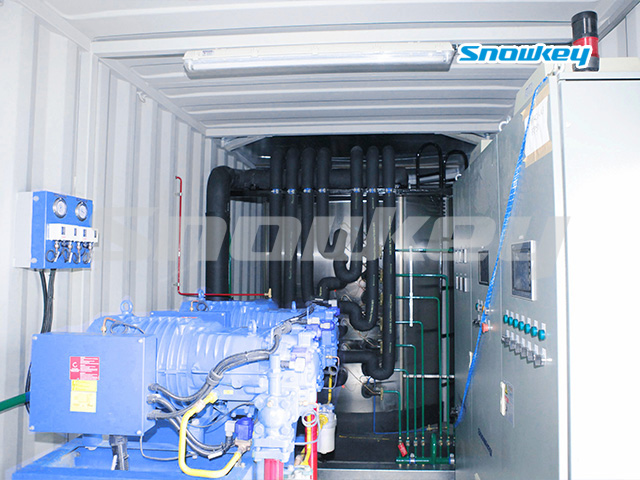 Containerized Flake Ice Machine Unit FIP25 (25 Tons Day)