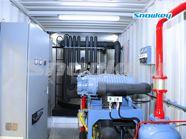 Containerized Flake Ice Machine Unit FIP30 (30 Tons/Day)