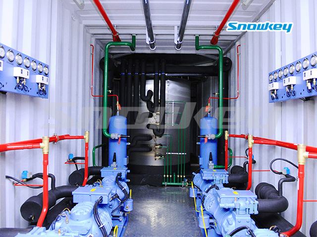 Containerized Flake Ice Machine Unit FIP43 (43 Tons/Day)