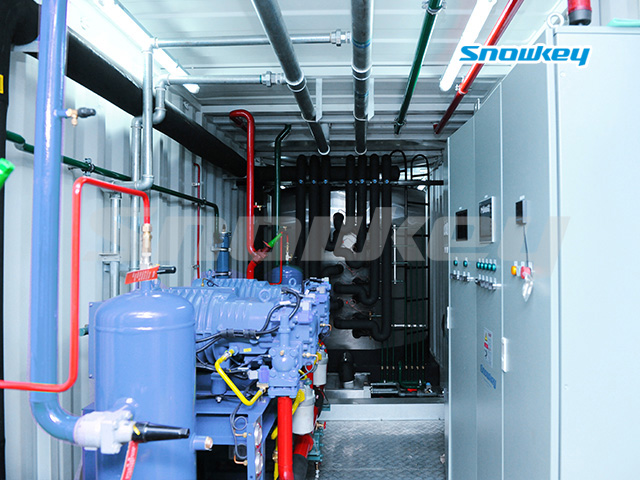 Containerized Flake Ice Machine Unit FIP53 (53 Tons/Day)
