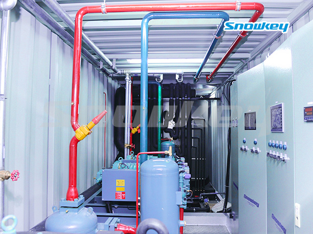 Containerized Flake Ice Machine Unit FIP63 (63 Tons/Day)