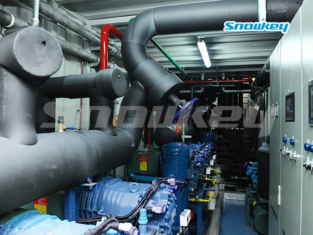 Containerized Flake Ice Machine Unit FIP73 (73 Tons/Day)