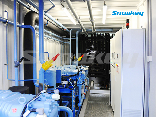 Containerized Flake Ice Machine Unit FIP83 (83 Tons/Day)