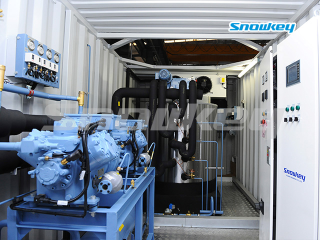 Containerized Flake Ice Machine Unit FIP10 (10 Tons/Day)