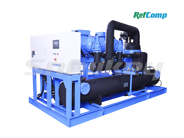 Evaporative Condensing Dry-Type Brine Chiller with Screw Compressor CWL25EDHA
