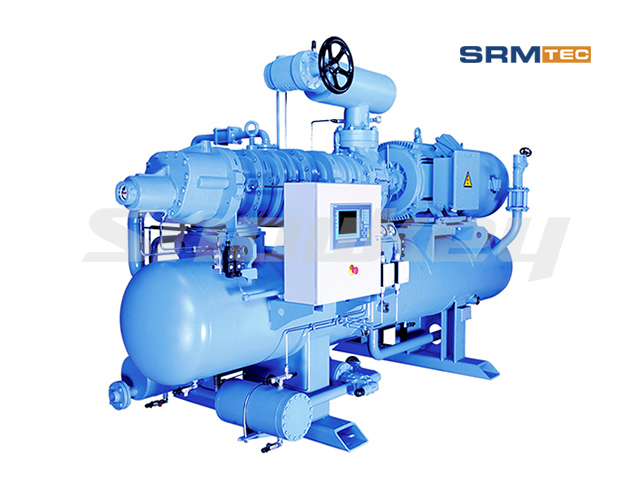 SRMP2V Open-Type Compound Two-Stage Inverter Screw Compressor Unit