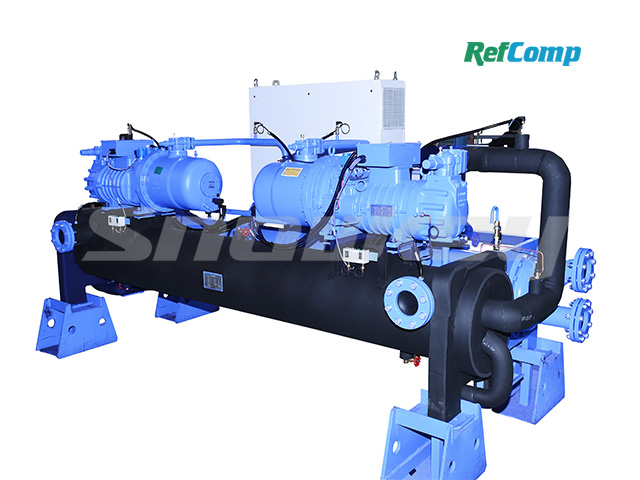 Water-cooled dry-type brine chiller with screw compressor CWH290WDHA 2