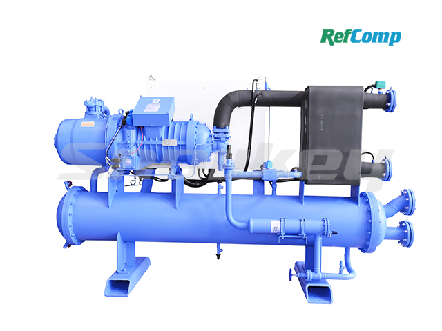 Water-cooled dry-type brine chiller with screw compressor CWH297WDHA 2