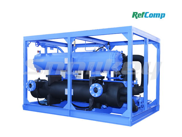 Water-cooled dry-type brine unit with piston compressor CWH90WDHA 2