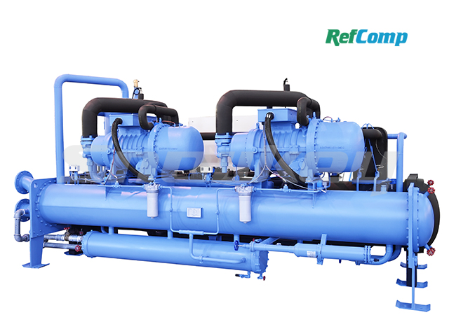 Water-cooled flooded-type brine chiller with screw compressor CWL400WFHA 2