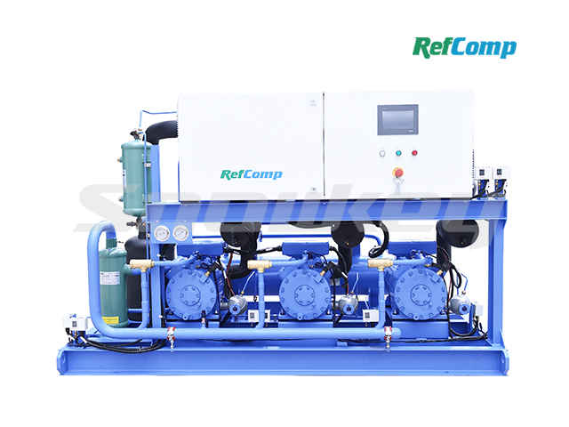 Water-cooled piston compressor condensing unit W3P4H015 2