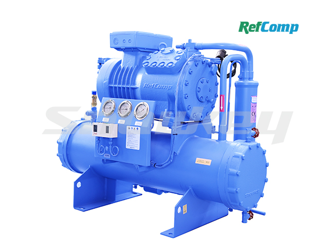 Water-cooled piston compressor condensing unit WP4H015