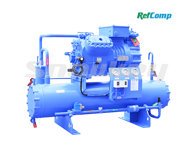 Water-cooled piston compressor condensing unit WP4H025