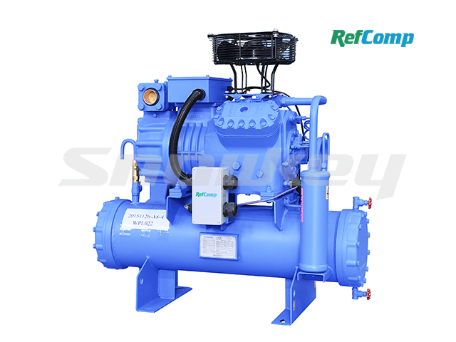 Water-cooled piston compressor condensing unit WP4L022